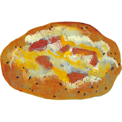 ZiZiベーコンとチーズのフォカッチャ